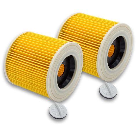 vhbw 2x Patronen Filter für Waschsauger Kärcher A 2254 Me, A 2534 pt, A 2554 Me, A 2604, A 2654 Me, A 2656 X Plus, SE 4001, SE 4002 wie 6.414-552.0.