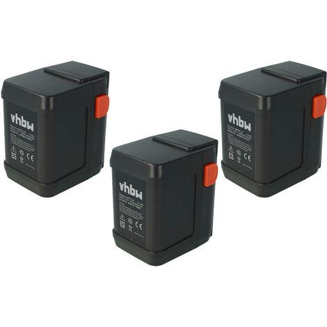 vhbw 3 x Li-Ion Batería 3000mAh (18V) para su herramienta electrónica Gardena AccuCut 400 Li (8840-20) por 8835-U, 8835-20, 8839, 8839-20
