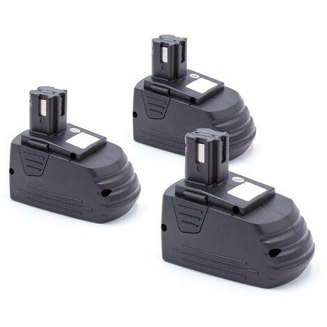 vhbw 3 x NiMH Batterie 3000mAh (12V) pour outils Hilti SB12, SF120-A, SF121-A, SID 121-A, SFL 12/15 Flashlight comme Hilti SFB121, SFB126, SFB126A