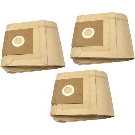 vhbw 30x sacs compatible avec Flex As Pi S 36, Org. Beutel: 497.961, S 36, S35 aspirateur - papier, marron