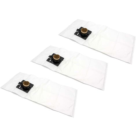 vhbw 30x sacs remplacement pour Festo / Festool 452970, FIS-CT 22, FIS-CTL 22, FIS-CTM 22 pour aspirateur - microfibres non tissées, blanc