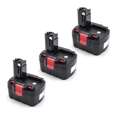 vhbw 3x Batterie compatible avec Cyklop CHT 300 outil électrique (1500mAh NiMH 14,4V)