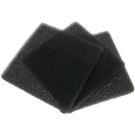 vhbw 3x filtre à air G3 remplace Lunos 037 176, 037176 pour Ventilateur de salle de bain, appareil de ventilation (3x filtre mousse)