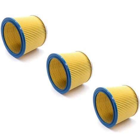 vhbw 3x Filtre rond / filtre en lamelles pour aspirateur Einhell NTS 1400, 1500, 1600