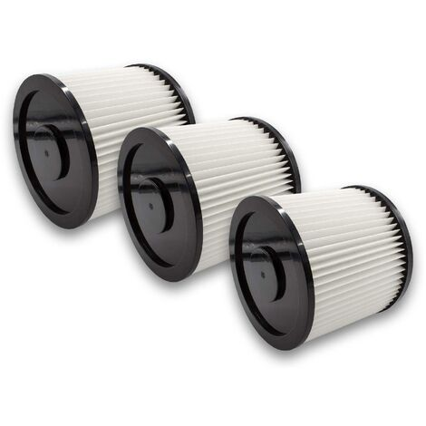 vhbw 3x filtre rond pour aspirateur multifonction compatible avec Aldi Workzone aspirateur à liquide, nettoyeur à sec
