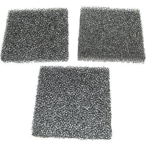 vhbw 3x filtres à air G2 compatible avec Lunos 2/ZSKA Ventilateur de salle de bain, appareil de ventilation (3x filtre à grosse poussière)
