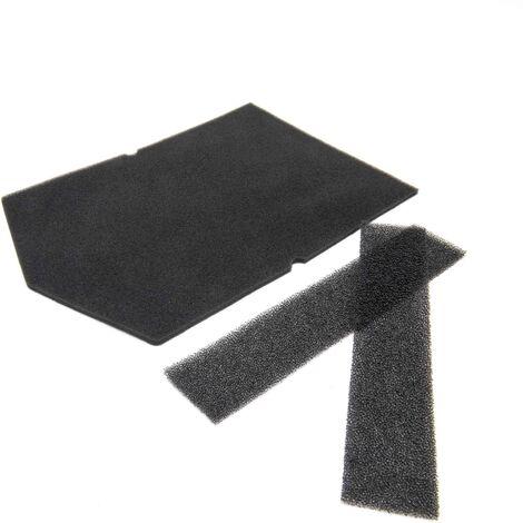 vhbw 3x Filtres en mousse pour séchoir, échangeur de chaleur comme Miele 9057930, 9688381