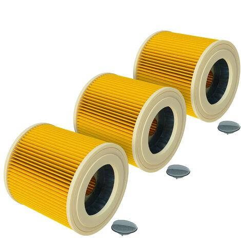 vhbw 3x filtro de cartucho para aspiradora, robot aspirador multiusos Kärcher A 1000, A 1001, A 2003, A 2004, A 2024 pt, A 2054 Me, A 2101, WD 1