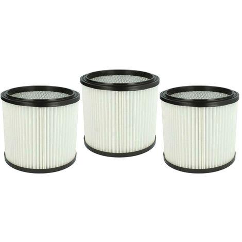vhbw 3x Filtros redondos compatibles con MAUK NTS aspiradora de agua y seco 30l 1200W, NTS aspiradora de agua y seco 20l 1200W