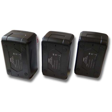 vhbw 3x Li-Ion batería 3000mAh (28V) para herramientas Milwaukee V28 IW batería de llaves de impacto etc. por 48-11-1830, 48-11-2830, 48-11-2850.