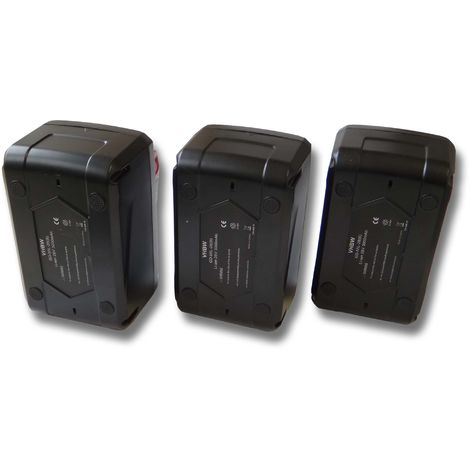 vhbw 3x Li-Ion batería 3000mAh (28V) para herramientas Milwaukee V28 MS batería de sierra circular etc. por 48-11-1830, 48-11-2830, 48-11-2850.