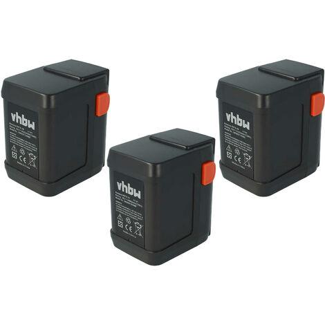 vhbw 3x Li-Ion batería 4000mAh (18V) para herramientas Gardena tijeras de podarEasycut 50-Li por 8835-U, 8835-20, 8839, 8839-20.