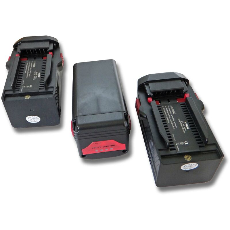 vhbw 3x Li-Ion batterie 3000mAh (36V) pour outils Hilti WSC 7.25-A36 remplace Hilti B36, B36V.