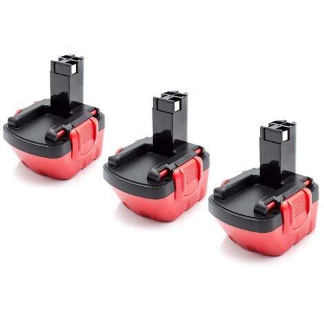 vhbw 3x NiMH batería 1500mAh (12V) para herramienta eléctrica powertools tools Bosch GSR 12V, JAN-55, PAG 12, PSB 12 VE-2, PSR 12, PSR 12VE