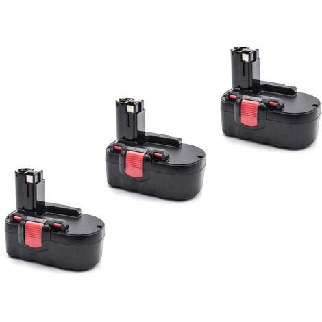vhbw 3x NiMH batería 2000mAh (18V) para herramienta eléctrica powertools tools Bosch GST 18 V, PSB 18 VE 2, PSR 18 VE-2