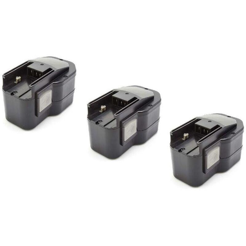 3x NiMH batterie 1500mAh (14.4V) pour outil électrique outil Powertools Tools AEG BS2E 14.4 T, BSB 14 STX, BSS 14, SB2E 14 STX - Vhbw