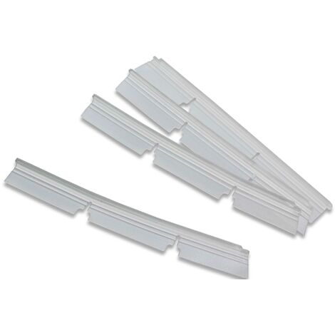 vhbw 4x languettes en caoutchouc compatible avec Neato Botvac 70E, 75, 80, 85, D75, D80 aspirateur-robot - Set de lamelles de rechange, blanc