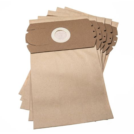 vhbw 5 bolsas papel compatible con Vetrella Supermax 1200, electronic aspiradora 31,5cm x 18cm