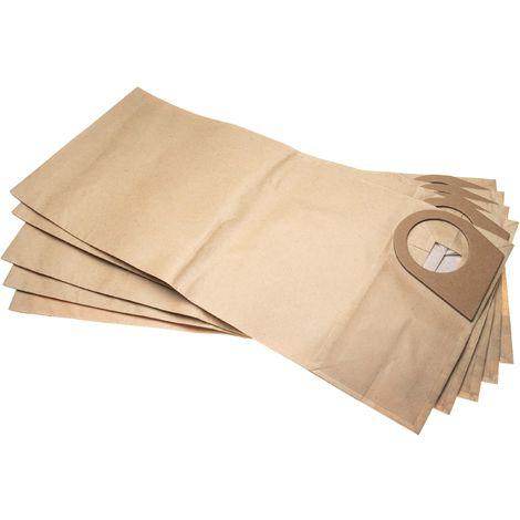 vhbw 5 sacs papier compatible avec Bosch GAS 35 M AFC Professional, PAS 1000, PAS 1000 F, PAS 900 aspirateur 49.5cm x 21.8cm