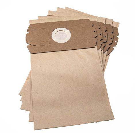 vhbw 5 sacs papier compatible avec Monix electronic, Titan Automatic aspirateur 31,5cm x 18cm