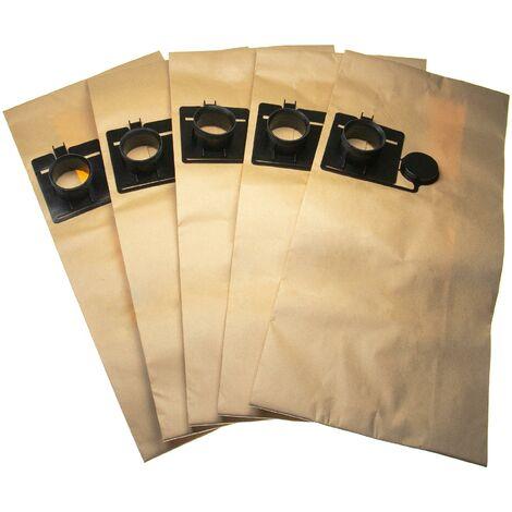 vhbw 5 sacs papier remplacement pour Festool 452970 pour aspirateur 60cm x 26.6cm