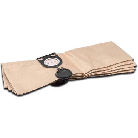 vhbw 5 x sac paper pour aspirateur robot aspirateur multi-usages Metabo AS 1200, AS 20 L, ASA 1201