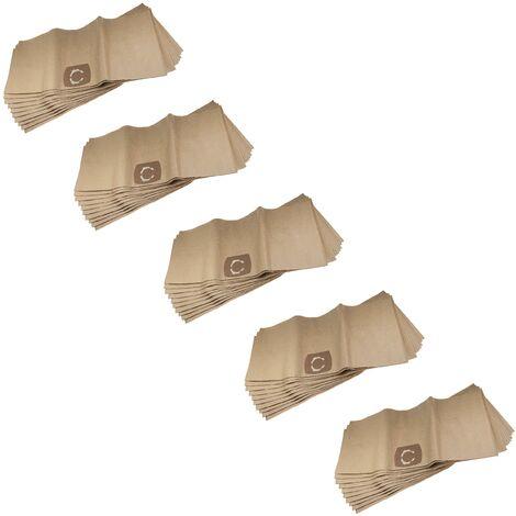 vhbw 50x sacs compatible avec Kärcher 2801, A 2500 - 2599, A 2600 - 2699, NT 35/1, NT 361 Eco aspirateur - papier, 33,1cm x 77,7cm, beige