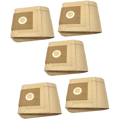 vhbw 50x sacs compatible avec Kärcher NT 35/1 Eco/ TE, NT 351 Eco, NT 351 Eco/ Profi/ HO, NT 361 aspirateur - papier, marron