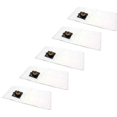 vhbw 50x sacs remplacement pour Festo / Festool 452970, FIS-CT 22, FIS-CTL 22, FIS-CTM 22 pour aspirateur - microfibres non tissées, blanc