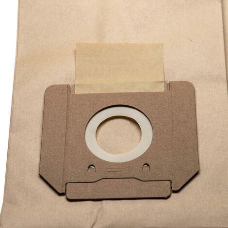 vhbw 5x bolsa reemplaza Bosch 2607432036 para aspiradora - papel, 75.2cm x 20.15cm, marrón