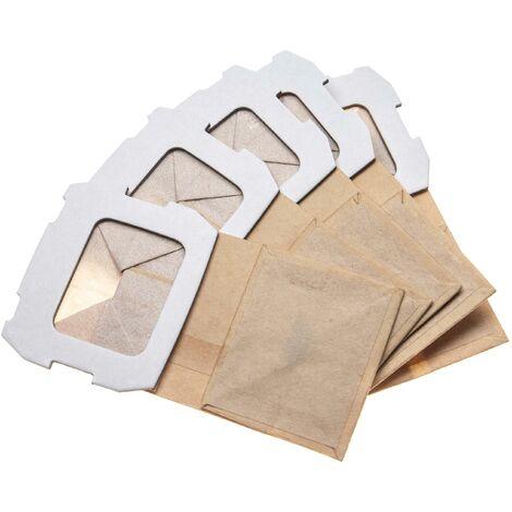 vhbw 5x Dust Bag compatible with Makita BO4565J, BO4566, BO5030, BO5031, BO5041 Electric Sander, Orbital Sander, paper - Tool Bag Set