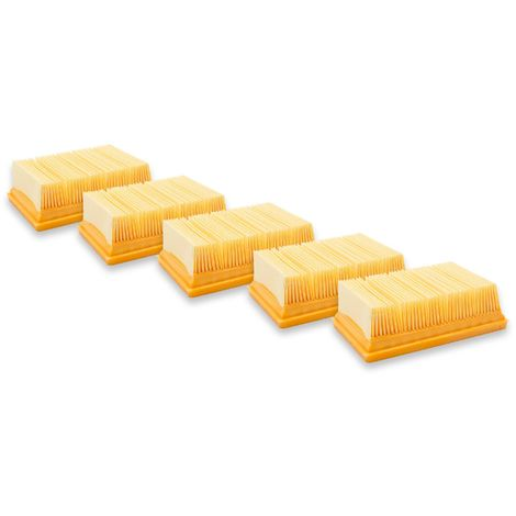 vhbw® 5x Filtre plat Filtre à lames filtrantes comme 2.863-005.0 pour aspirateurs multi-usages Aspirateurs eau et poussière Kärcher WD6 P, WD6 Premium