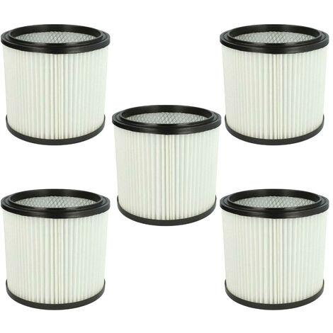 vhbw 5x filtre rond compatible avec Mauk NTS 20, NTS aspirateur à liquide et à sec 30l 1200W, NTS aspirateur à liquide et à sec 20l 1200W
