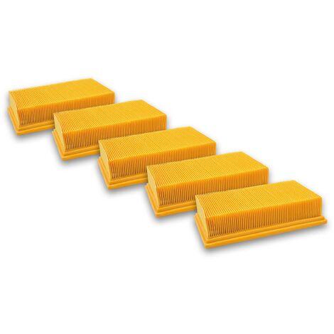 vhbw 5x Filtros pliegue plano para aspiradoras Flex 337.692