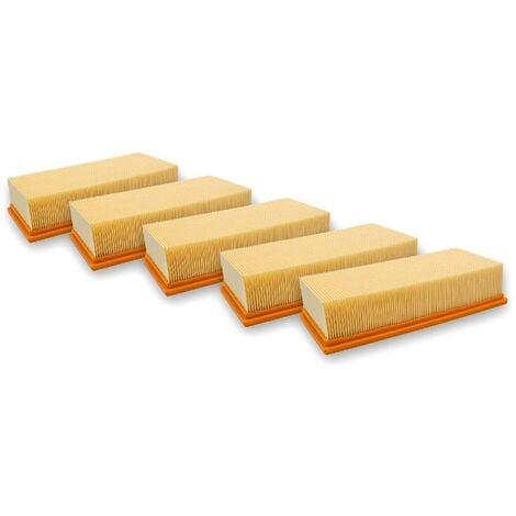 vhbw 5x filtros plisados planos compatible con Hilti VC 300 aspiradoras en seco/mojado