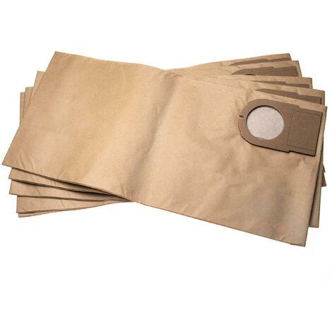 vhbw 5x sacs compatible avec Metabo AS 9010, ASA 9011 aspirateur - papier, 51.3cm x 24.1cm, marron