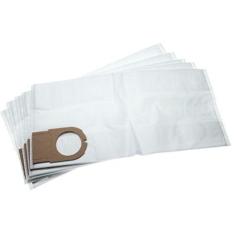 vhbw 5x sacs remplacement pour Metabo 6.31348, 631348000 pour aspirateur - microfibres non tissées, 49.3cm x 23.7cm, blanc
