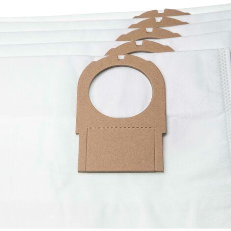 vhbw 5x sacs remplacement pour Metabo 6.31349, 631349000 pour aspirateur - microfibres non tissées, 68,6cm x 23.7cm, blanc