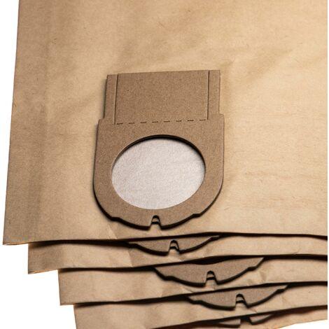 vhbw 5x sacs remplacement pour Metabo 6.31349, 631349000 pour aspirateur - papier, 67.9cm x 24.15cm, marron