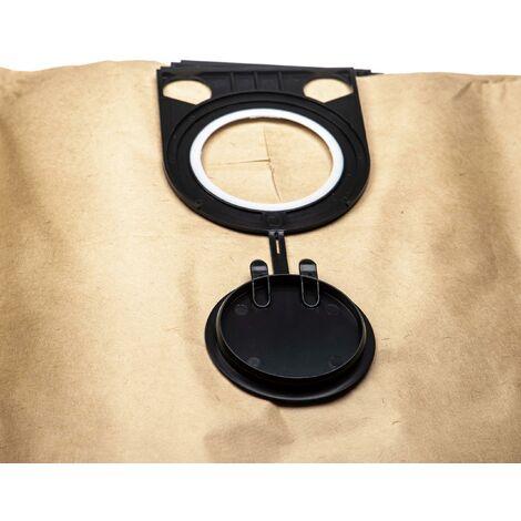 vhbw 5x sacs remplacement pour Metabo 6.31757, 631757 pour aspirateur - papier, 76.3cm x 30.1cm, marron