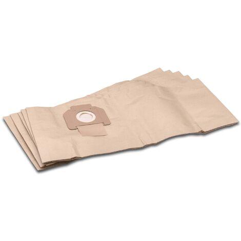 vhbw 5x sacs remplacement pour Protool / Festool 625344 pour aspirateur - papier, marron