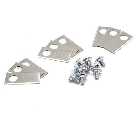 vhbw 9x Cuchillas de repuesto adecuadas para robot cortacésped Honda Miimo 310, 520, 3000, HRM 310, HRM 520, HRM 3000 (acero inoxidable, 0.75mm)