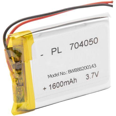 vhbw Akku Ersatz für Fatboy PN704050 für Tischlampe, Nachttischlampe (1600mAh, 3.7V, Li-Polymer)