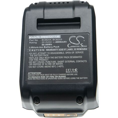 vhbw Akku passend für Bostitch 30 Degree Paper Tape Cordless Framing Nailer, BCF28WWB, BCF30PTB Elektrowerkzeug (4000mAh Li-Ion 20V)