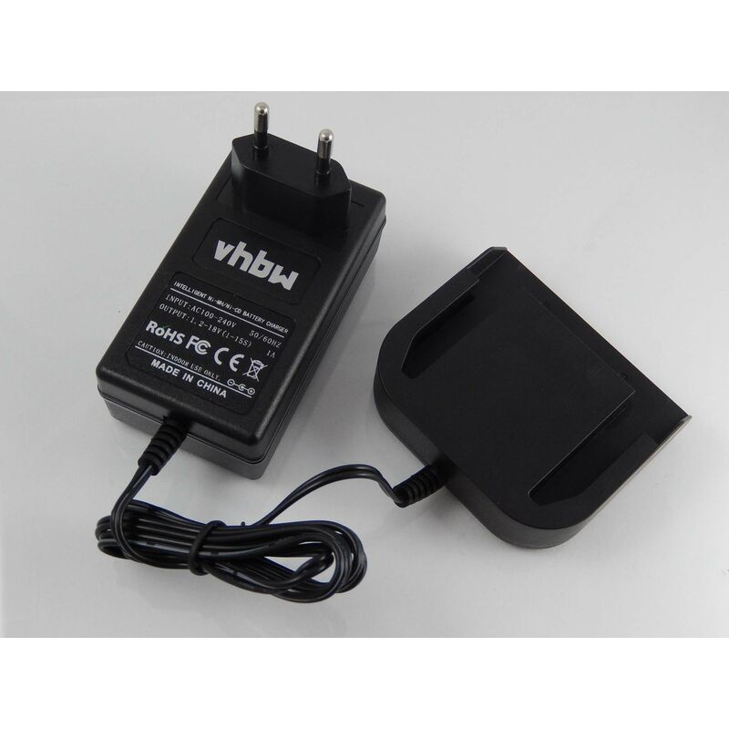 vhbw Alimentation 220V câble chargeur pour outils AEG BSB 18 LI, BSB 18 STX, BSB18G, BSS 12 RW, BSS 14, BSS 18C, BST 18X, BUS 18, BUS 18 X, BX12