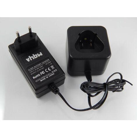 vhbw Alimentation 220V câble chargeur pour outils AEG / Milwaukee M12IC, M12IC AV A, M12IR, M12JS, M12PCG, M12TI