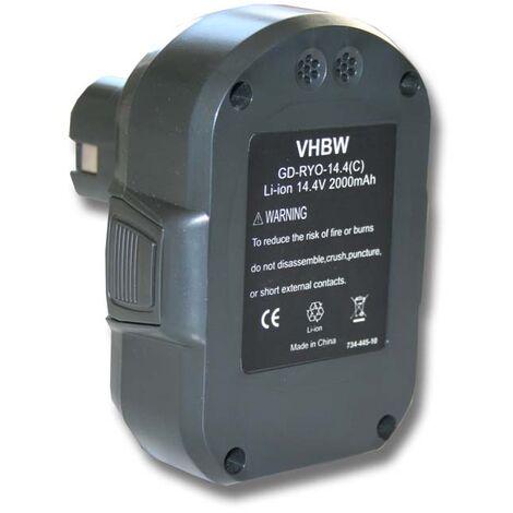 vhbw batería 2000mAh (14.4V) para herramienta Ryobi LLCD14022, LLCD 14022 por BPL1414.