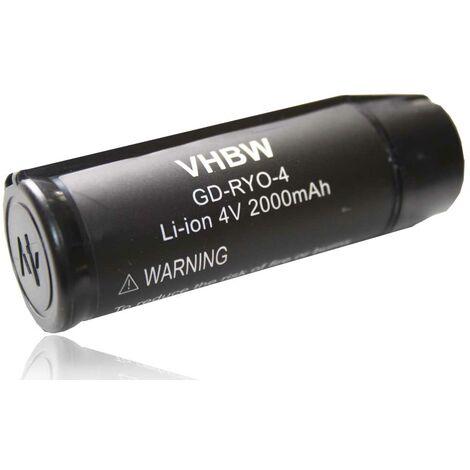 vhbw batería 2000mAh (4V) para herramienta Ryobi AP4001, AP4302, AP4700, CSD42l, HP53LK, RP4310, RP4400, RP4410, RP4470, RP4530 por AP4001.