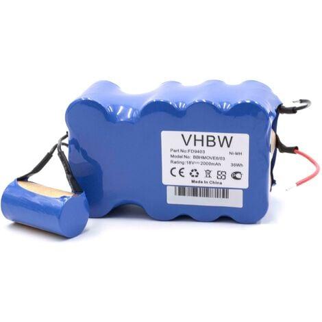 vhbw Batería adecuada para aspiradoras Bosch BBHMOVE4N/01, BBHMOVE4/03, BBHMOVE6/03 BBHMOVE4AU/03, BBHMOVE6/02, BBHMOVE5/02 (2000mAh, 18V, NiMH)