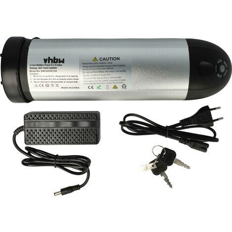 vhbw Batería adecuada para e-bike, bicicletas eléctricas Prophete Zündapp reemplaza baterías de botella, botellas (Li-Ion, 10 Ah, 36.0V)